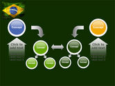 Brazilian Flag With Brazilian Silhouettes PowerPoint Template#19