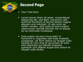 Brazilian Flag With Brazilian Silhouettes PowerPoint Template#2