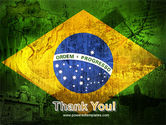 Brazilian Flag With Brazilian Silhouettes PowerPoint Template#20