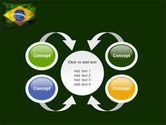 Brazilian Flag With Brazilian Silhouettes PowerPoint Template#6