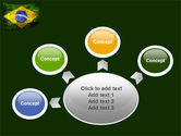 Brazilian Flag With Brazilian Silhouettes PowerPoint Template#7