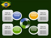 Brazilian Flag With Brazilian Silhouettes PowerPoint Template#9