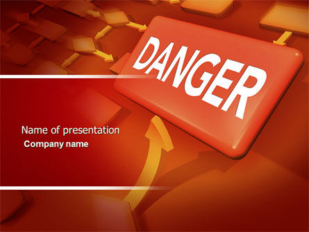 Danger PowerPoint Template, 04539, Consulting — PoweredTemplate.com
