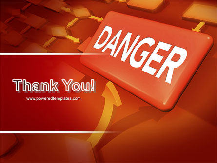 Danger PowerPoint Template Slide 20