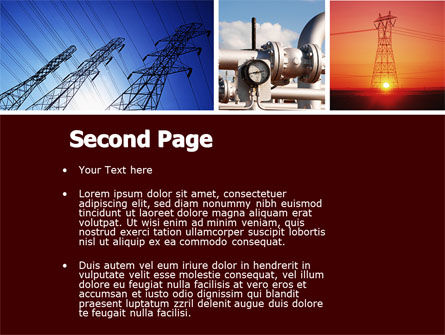 Energy Supply PowerPoint Template, Slide 2, 04540, Technology and Science — PoweredTemplate.com