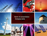 Technology and Science: Energy Supply PowerPoint Template #04540