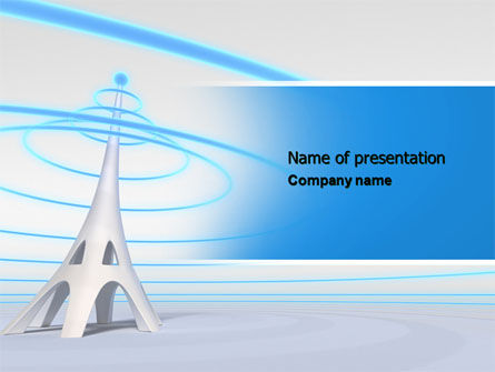 Telecommunication: Television Tower PowerPoint Template #04548