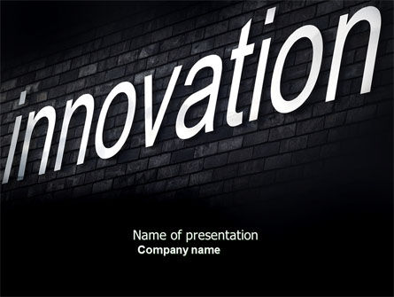 Caption Innovation On The Wall PowerPoint Template, 04549, Technology and Science — PoweredTemplate.com
