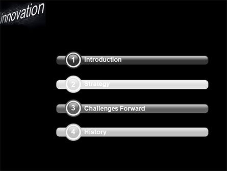 Caption Innovation On The Wall PowerPoint Template, Slide 3, 04549, Technology and Science — PoweredTemplate.com