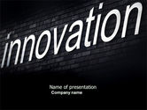 Technology and Science: Caption Innovation On The Wall PowerPoint Template #04549