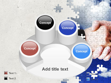 Puzzle Of Partnership PowerPoint Template Slide 12