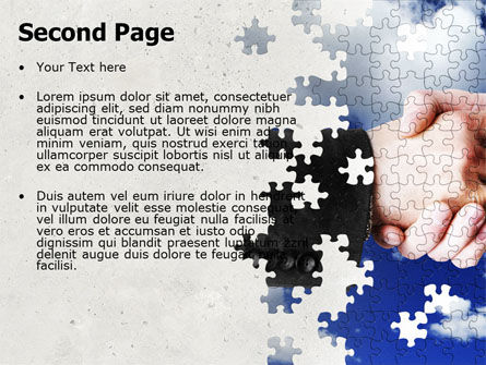 Puzzle Of Partnership PowerPoint Template Slide 2