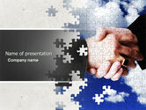 Business: Puzzle Of Partnership PowerPoint Template #04550