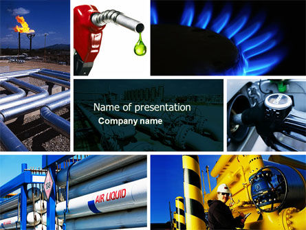 Utilities/Industrial: Gas Supply PowerPoint Template #04560