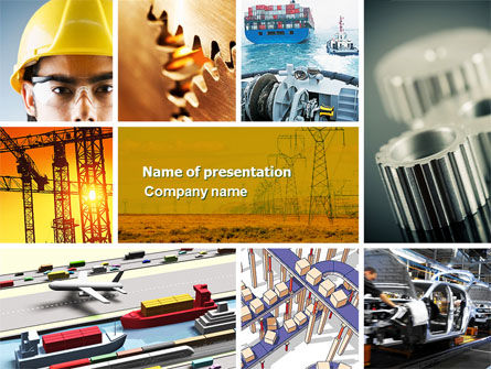 Industry PowerPoint Template, 04562, Utilities/Industrial — PoweredTemplate.com