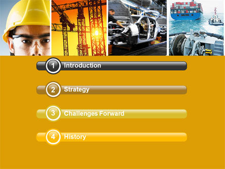 Industry PowerPoint Template, Slide 3, 04562, Utilities/Industrial — PoweredTemplate.com
