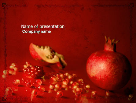Cleaned Garnet PowerPoint Template, 04563, Food & Beverage — PoweredTemplate.com