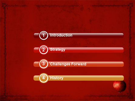 Cleaned Garnet PowerPoint Template, Slide 3, 04563, Food & Beverage — PoweredTemplate.com