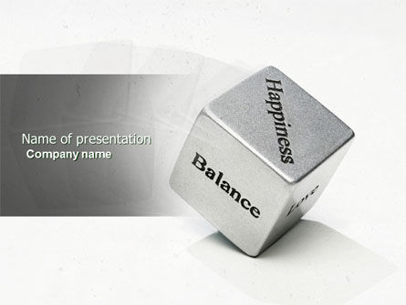 Medical: Cube Of Happiness And Balance PowerPoint Template #04564