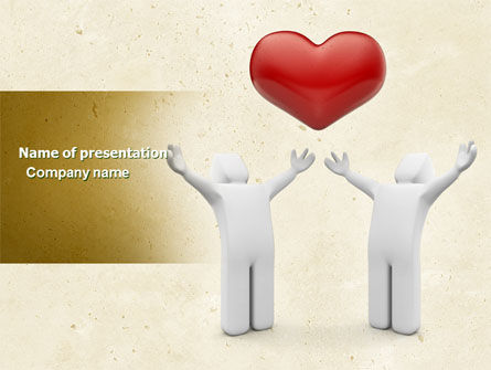 Holiday/Special Occasion: True Love Heart PowerPoint Template #04565