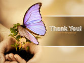 Butterfly In Your Hands PowerPoint Template#20