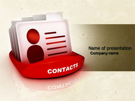 Contacts List PowerPoint Template, 04568, Consulting — PoweredTemplate.com