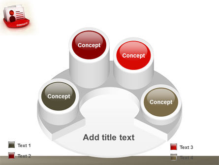Contacts List PowerPoint Template Slide 12