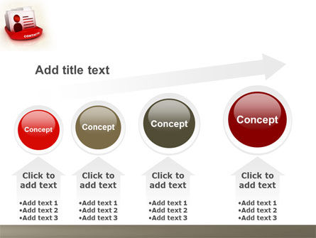 Contacts List PowerPoint Template Slide 13