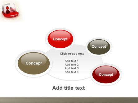 Contacts List PowerPoint Template Slide 16