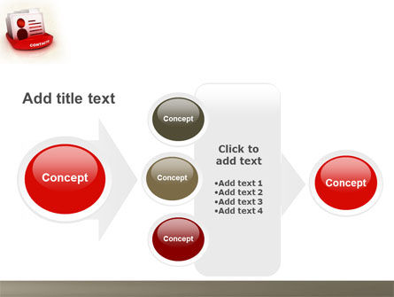 Contacts List PowerPoint Template Slide 17