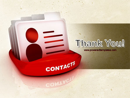 Contacts List PowerPoint Template Slide 20