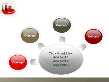 Contacts List PowerPoint Template Slide 7