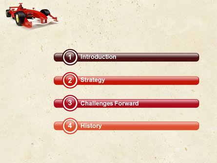 Formula One Car PowerPoint Template, Slide 3, 04571, Sports — PoweredTemplate.com