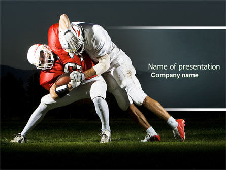 American Football New Orleans Saints PowerPoint Template, 04572, Sports — PoweredTemplate.com