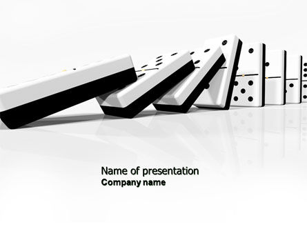 Chain Reaction PowerPoint Template, 04573, 3D — PoweredTemplate.com