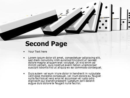 Chain Reaction PowerPoint Template, Slide 2, 04573, 3D — PoweredTemplate.com