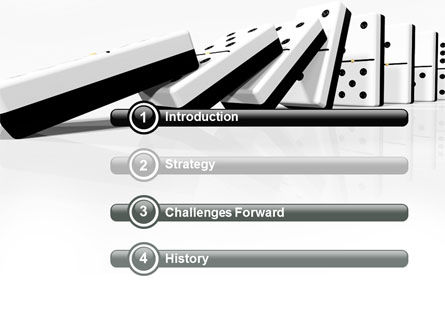 Chain Reaction PowerPoint Template, Slide 3, 04573, 3D — PoweredTemplate.com