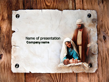 Religious/Spiritual: Birth of Christ PowerPoint Template #04574