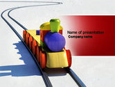 Cars and Transportation: Train Model PowerPoint Template #04576