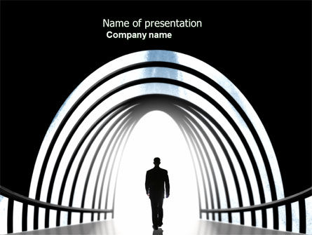 Way Out PowerPoint Template, 04580, Careers/Industry — PoweredTemplate.com