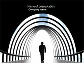 Careers/Industry: Way Out PowerPoint Template #04580