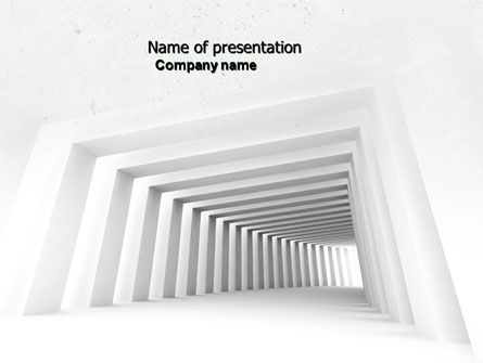 Business Concepts: Light Gray Square Tunnel PowerPoint Template #04581