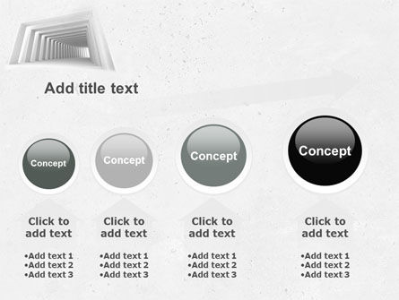 Light Gray Square Tunnel PowerPoint Template Slide 13