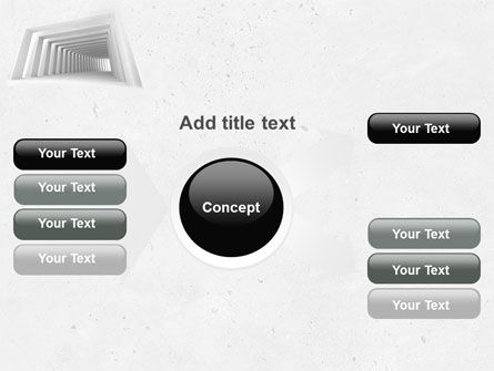 Light Gray Square Tunnel PowerPoint Template Slide 14