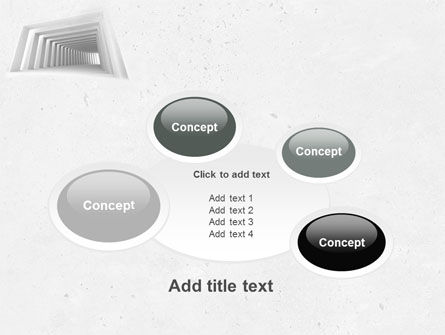 Light Gray Square Tunnel PowerPoint Template Slide 16
