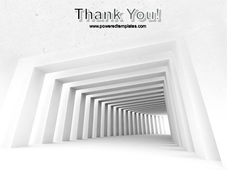 Light Gray Square Tunnel PowerPoint Template Slide 20