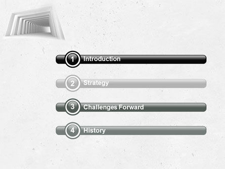 Light Gray Square Tunnel PowerPoint Template Slide 3