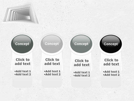 Light Gray Square Tunnel PowerPoint Template Slide 5