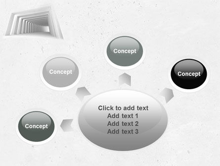 Light Gray Square Tunnel PowerPoint Template Slide 7