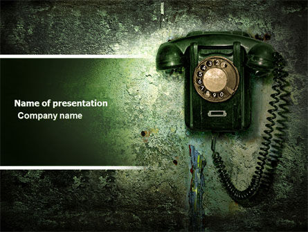 Telecommunication: Outdated Telephone PowerPoint Template #04583